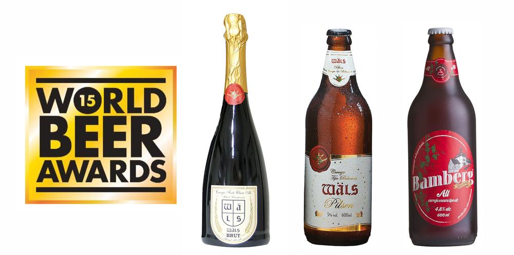 Wäls Brut, Wäls Bohemian Pílsen e Bamberg Altbier superaram concorrentes do mundo todo em suas categorias (Fotos: Divulgação)