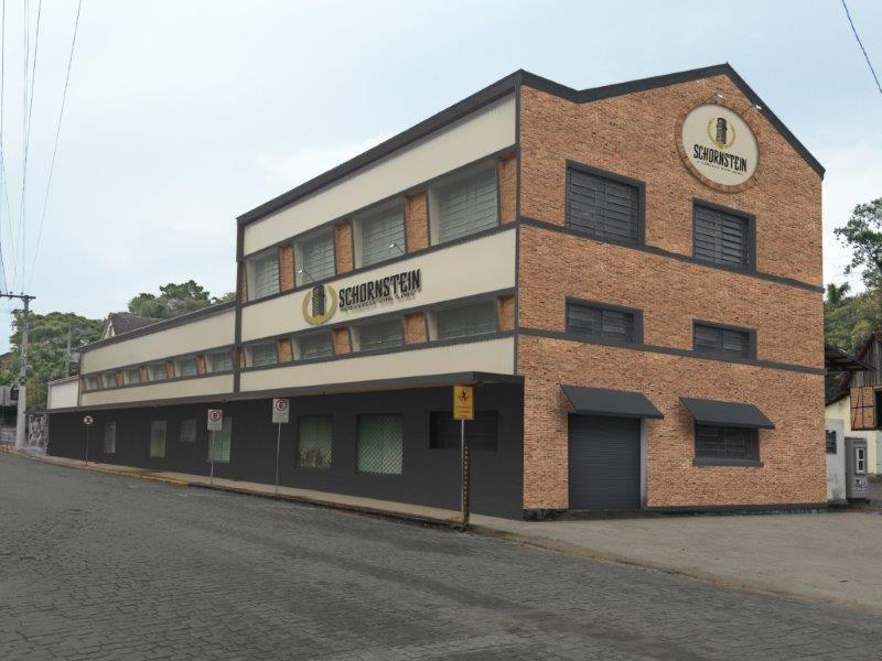 A nova fábrica da Schornstein será em um prédio que está sendo restaurado no Centro de Pomerode (Foto: Ilustração)