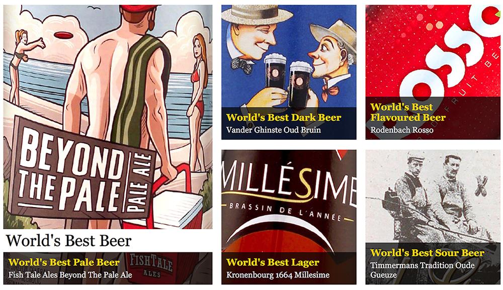A melhor do mundo no WBA 2015 é uma American Pale Ale, a Beyond The Pale Ale, da Fish Tale Ales, dos EUA (Foto: Reprodução)