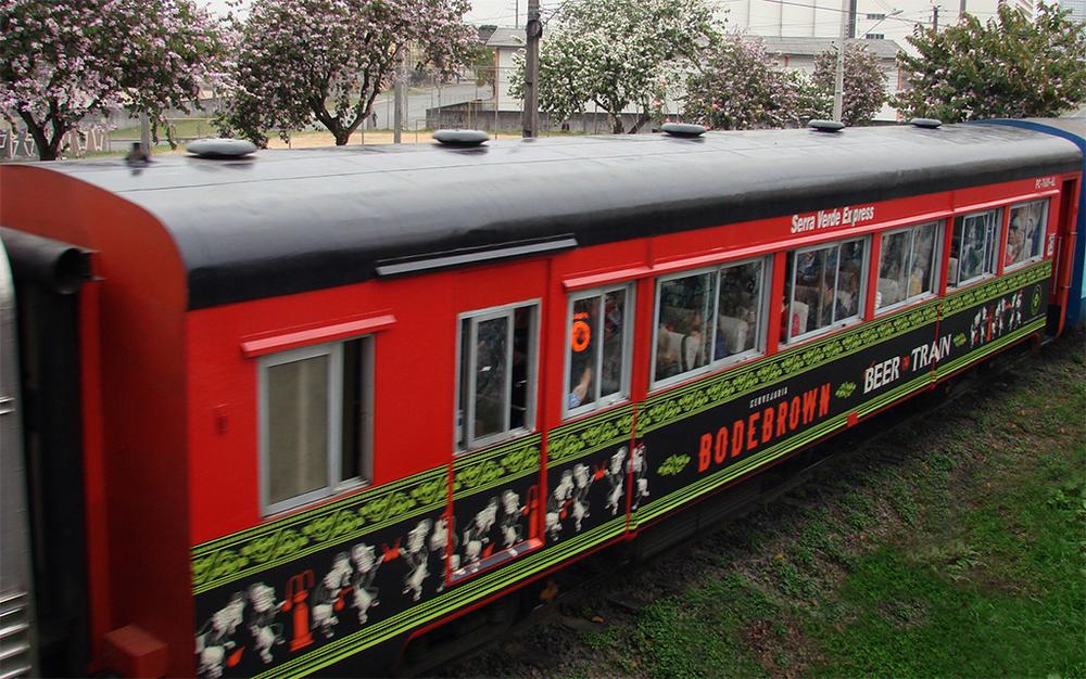 Tradicional viagem do calendário cervejeiro, o Beer Train vai de Curitiba até Morretes (Foto: Divulgação)