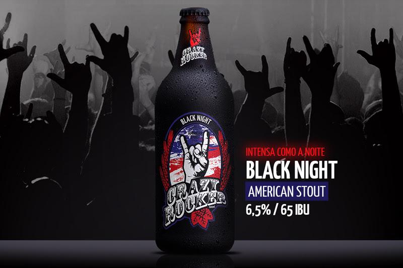 Peça de divulgação da nova cerveja da Crazy Rocker, produzida pela Dortmund (Foto: Divulgação)