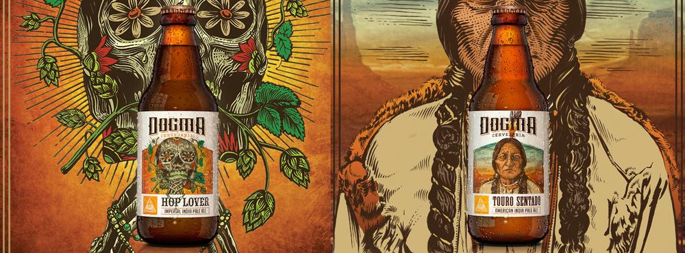 Inicialmente lançadas pela Serra de Três Pontas, a Hop Lover e a Touro Sentado agora são Dogma, resultado da fusão com a Prima Satt e a Noturna (Fotos: Divulgação)