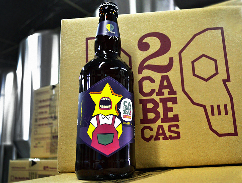 Cerveja, produzida na Invicta, em Ribeirão Preto (SP), passa a integrar a linha fixa da marca carioca 2cabeças (Foto: Divulgação)