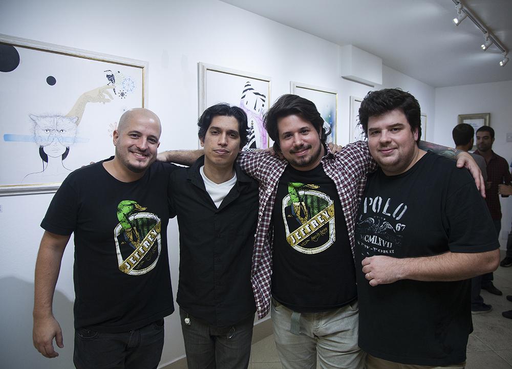 Os sócios da Jeffrey: Rafael Bloise, Eduardo Brand, Gilson Val e Renato Monteiro (Foto: Diego Batista/Divulgação)