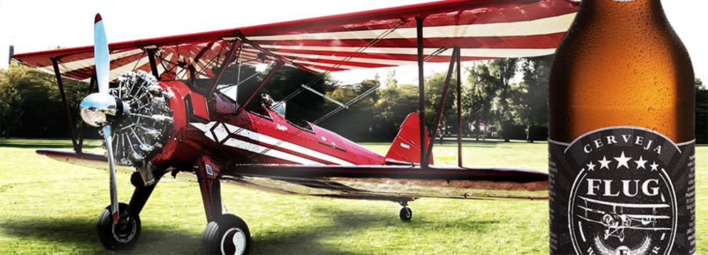 Tema da aviação está presente desde a primeira cerveja, uma Weizen chamada Flug - voo em alemão (Foto: Divulgação)