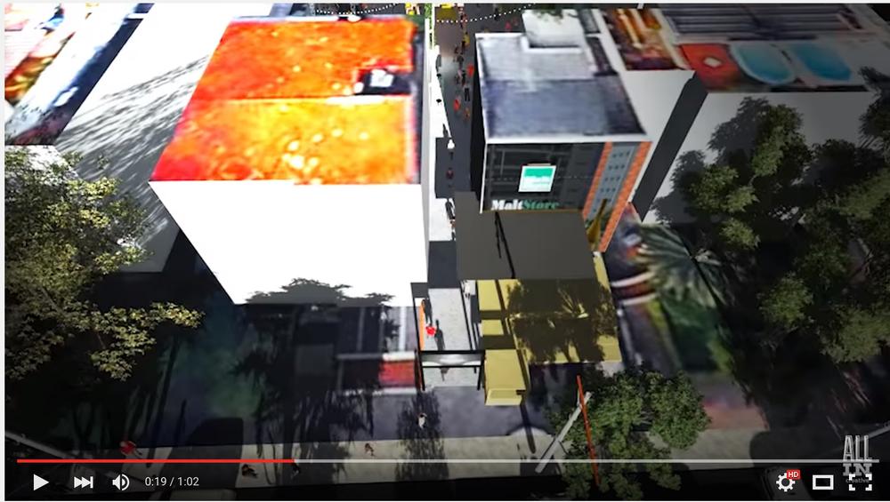 Vídeo  com animação em 3D faz uma projeção do evento a ser realizado no segundo fim de semana de dezembro na área do estacionamento da MaltStore, no Moinhos de Vento (Foto: Reprodução/YouTube)
