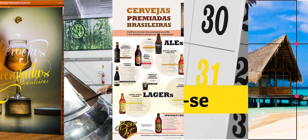 Livro, portal de cervejarias brasileiras, pôster das cervejas mais premiadas por estilo, agenda de concursos cervejeiros e blog de design: uma síntese da Beer Art em 2015