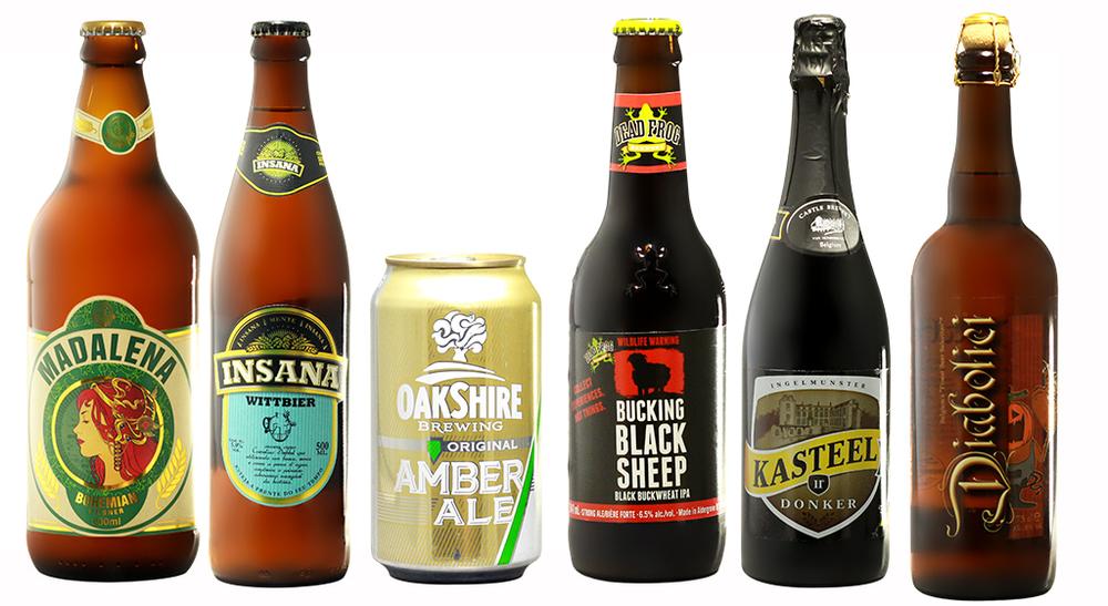Cervejarias Madalena (SP) e Insana (PR) figuram ao lado de americanas e belgas nos kits de janeiro do CluBeer (Fotos: Divulgação)