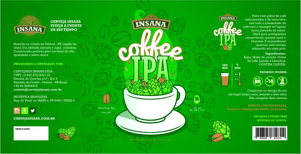O café da Insana Coffee IPA tem origem na região Norte Pioneiro do Paraná, com aroma e sabor que remetem ao melaço de cana e frutas vermelhas (Foto: Divulgação)