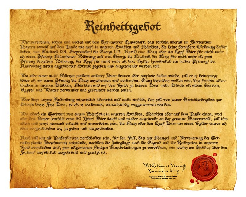 A Lei da Pureza, ou Reinheitsgebot (Foto: Reprodução)