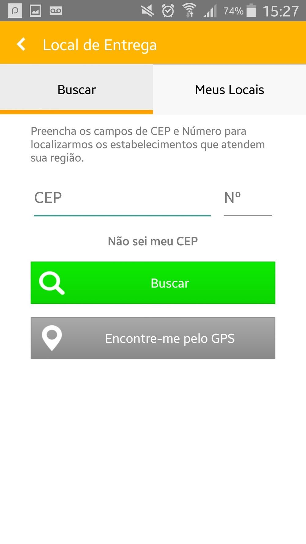 Tela do App Abrafood (Foto: Divulgação)