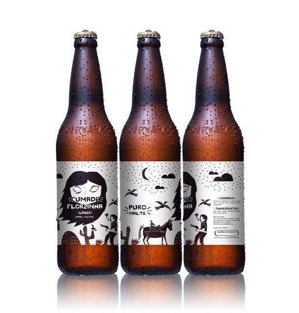 A Cumade Florzinha, uma IPA com 60 de IBU e 6% de ABV, é a novidade comemorativa da marca e chega ao mercado em garrafas de 330 mL produzidas pela Owens Illinois (Foto: Divulgação)