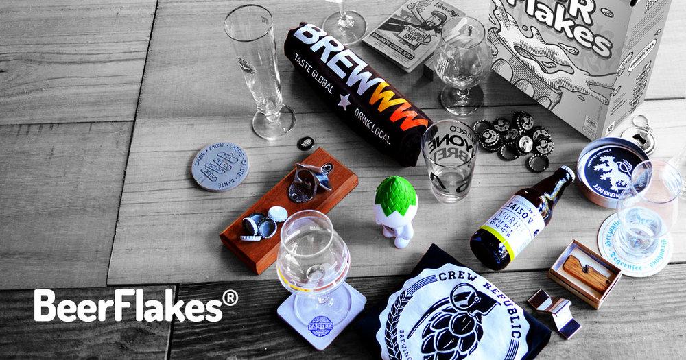 Assinantes vão receber mensalmente itens relacionados ao tema cerveja, eles taças, copos, abridores, placas e camisetas, de diferentes marcas e cervejarias (Foto: Divulgação)