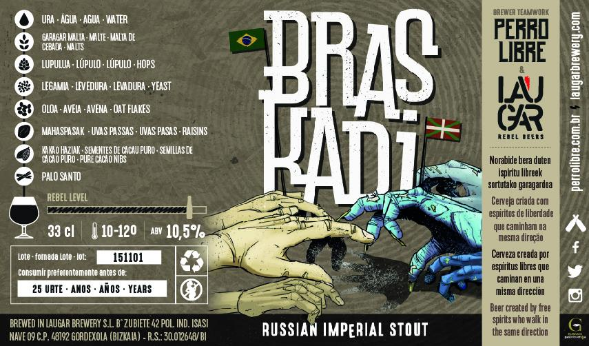 """Os detalhes da Braskadi, uma Imperial Stout """"binacional"""" Brasil/Espanha (Foto: Divulgação)"""