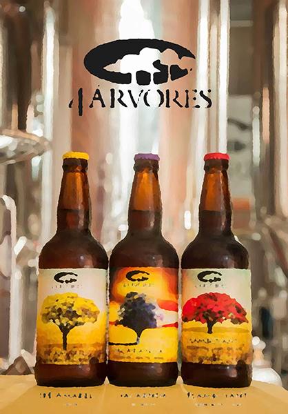 """As primeiras três """"árvores"""" do nome da cervejaria (Foto: Divulgação)"""