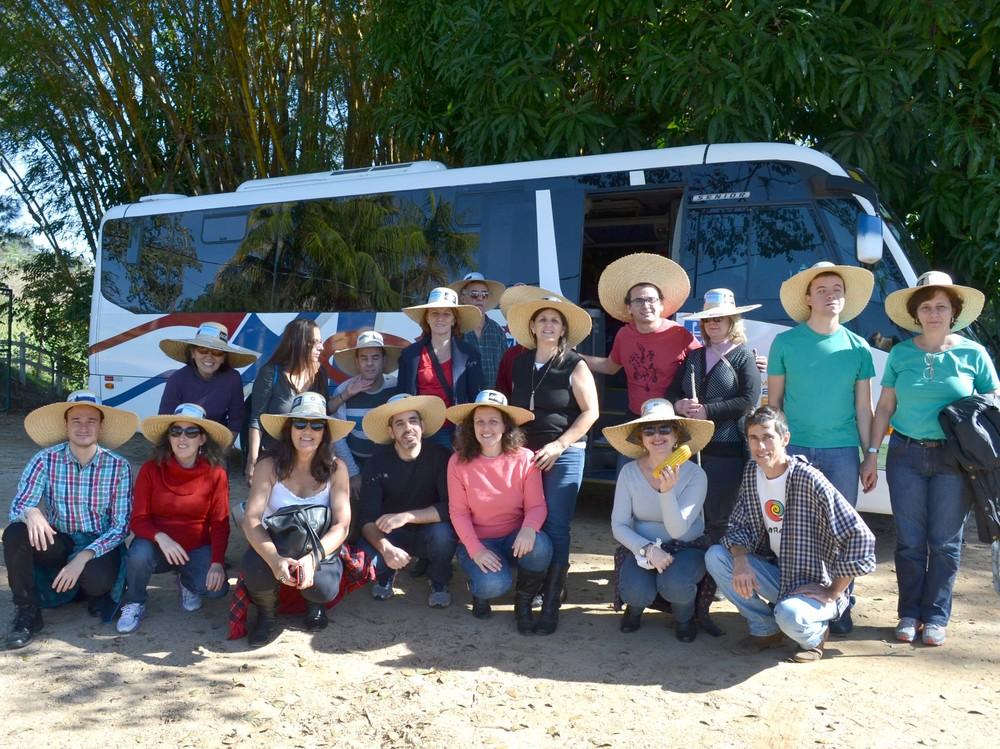 Grupo visitou fazenda sustentável Retiro Santo Antônio, em São Antônio do Jardim (a cerca de 172 km da capital paulista)e Espírito Santo do Pinhal,a 7 km da primeira parada (Foto: Divulgação)