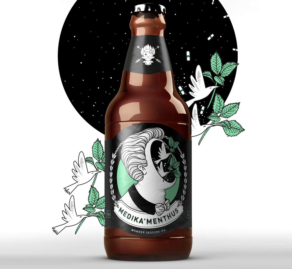 Lançamento ocorre no EAP e na loja online ligada à marca, a Cervejaria Virtual,onde estão à venda as demais cervejas da linha, como a Anesthes'IPA, a Psicót'IPA e a Soro N'Aveia (Foto: Divulgação)