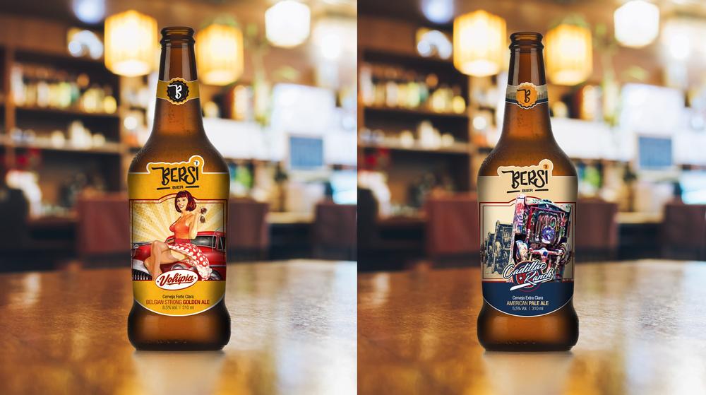 A Volúpia e a Cadillac Ranch são as cervejas de estreia da Bersi Bier (Fotos: Divulgação)
