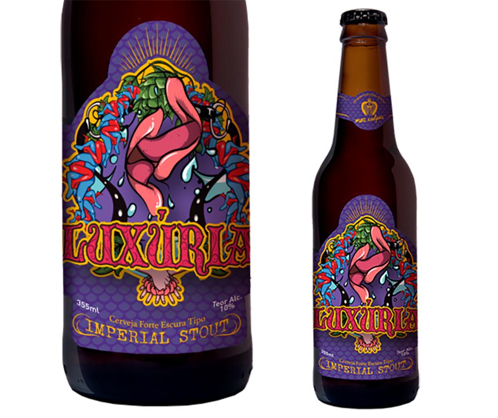 Luxúria se junta aos outros três temas já explorados pela cervejaria: Gula, Ira e Preguiça (Foto: Divulgação)
