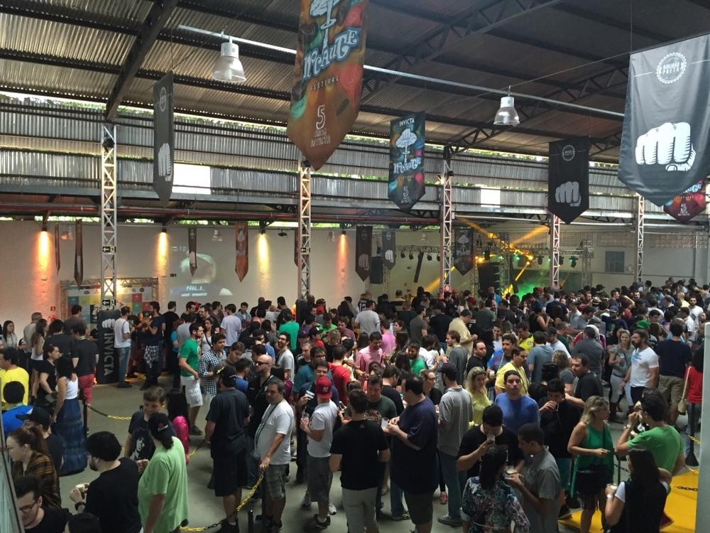 Imagem do início do festival, em 20 de agosto, nas novas instalações da Invicta em Ribeirão Preto (Foto: Altair Nobre/Beer Art)
