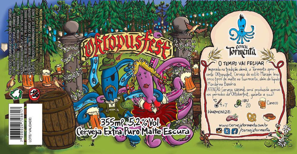 A Oktopusfest é uma cerveja do estilo Märzen, com cinco maltes diferentes em sua receita aliados ao lúpulo Mandarina Bavária (Foto: Divulgação)