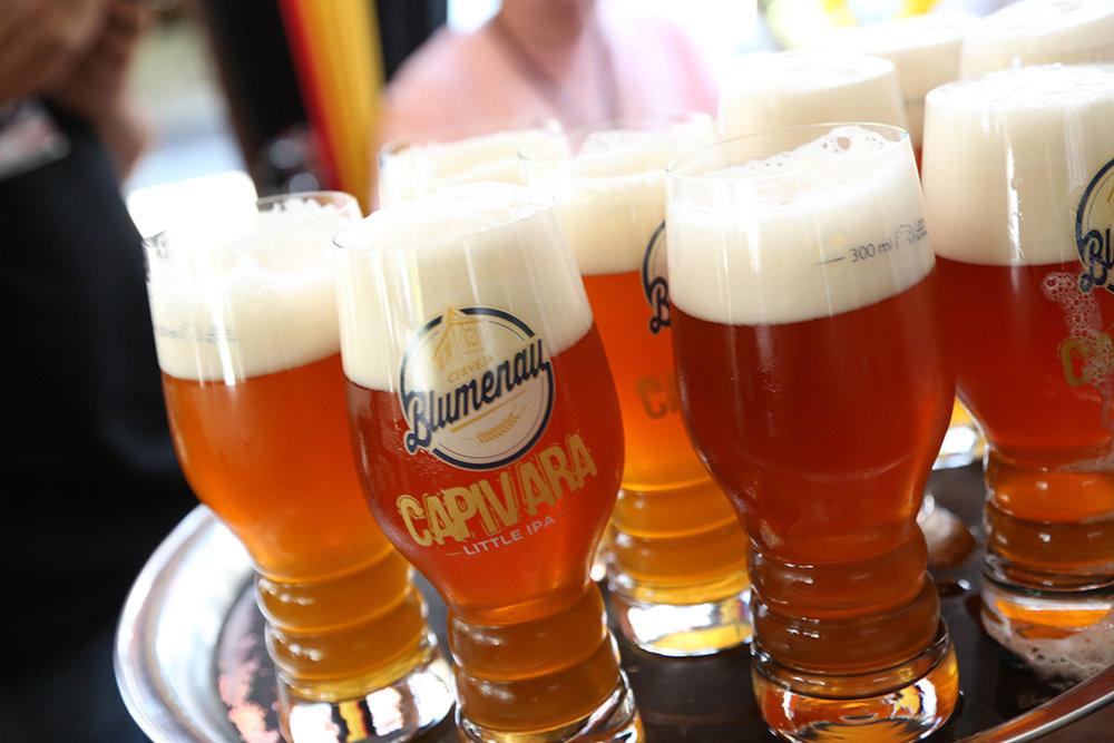 A Cerveja Blumenau, com menos de um ano de atividade, entrou à última hora na lista de artesanais do evento na cidade catarinense (Foto: Divulgação)
