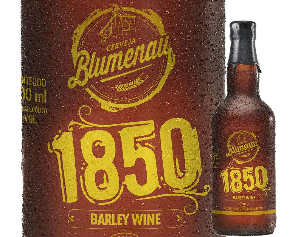 Um dos diferenciais da 1850 é ter sido produzida exclusivamente com maltes especiais da Malteria Blumenau (Foto: Divulgação)