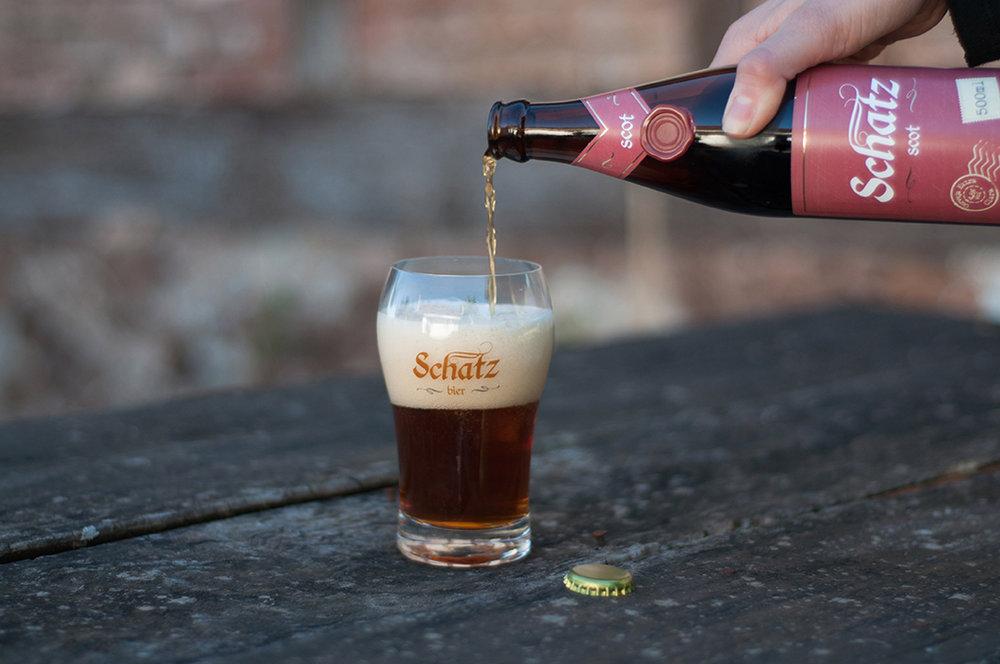 Confira ao pé do texto a ficha técnica da Schatz Scottish Ale (Foto: Divulgação)