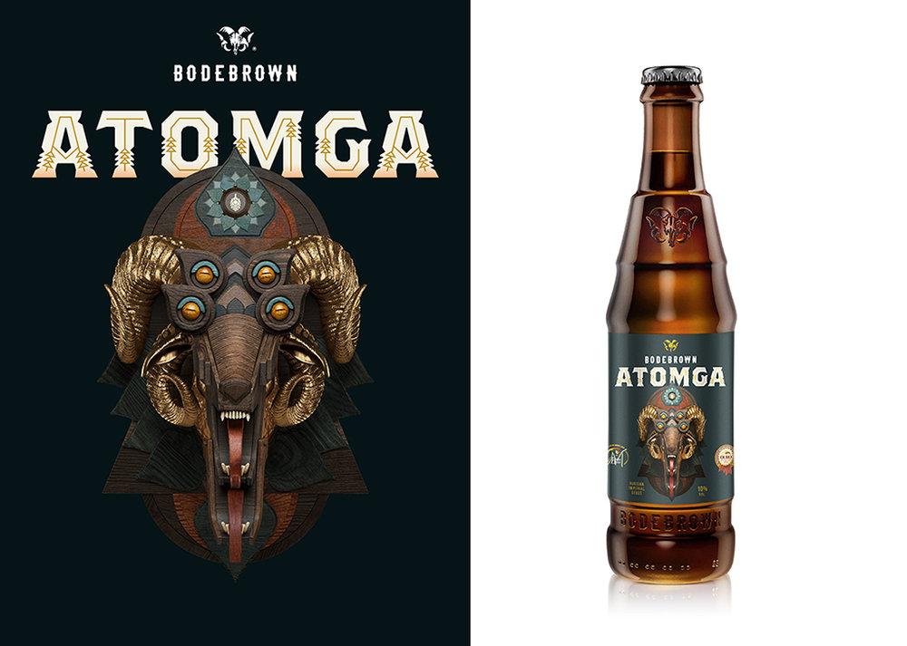 A Atomga nasceu do encontro dos Cavalcanti, da Bodebrown,com os norte-americanos Kirk e Tiller, no Beer Train, em Curitiba, no verão de 2014 (Fotos: Divulgação)