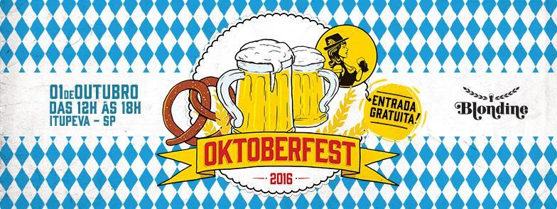 Uma caneca exclusiva para a Oktoberfest Blondine, cheia de chope, será comercializada apenas no dia do evento (Foto: Divulgação)