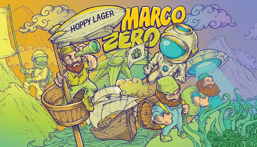 A Marco Zero éuma Hoppy Lager de cor amarela translúcida, leve e refrescante e aroma cítrico dos lúpulos Citra e Amarillo (Foto: Divulgação)