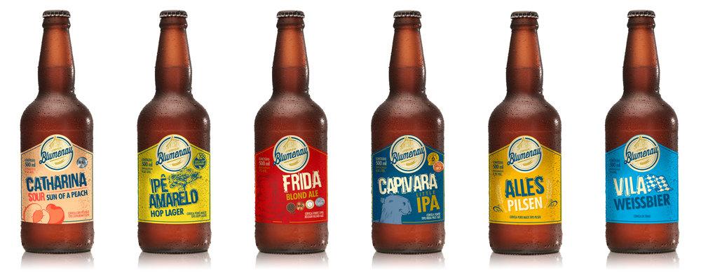 Linha da Cerveja Blumenau tem quatro cervejas premiadas (Foto: Divulgação)