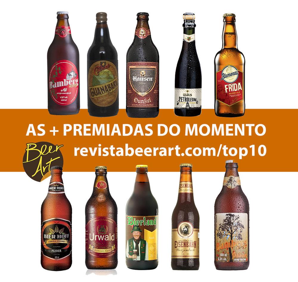 Levantamento é feito a partir do ranking da Beer Art, que está completo em revistabeerart.com/cervejas