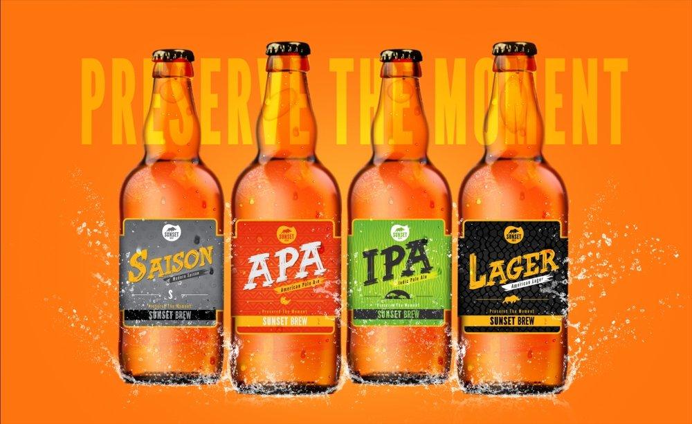 Linha inicial da Sunset Brew tem quatro estilos (Foto: Divulgação)