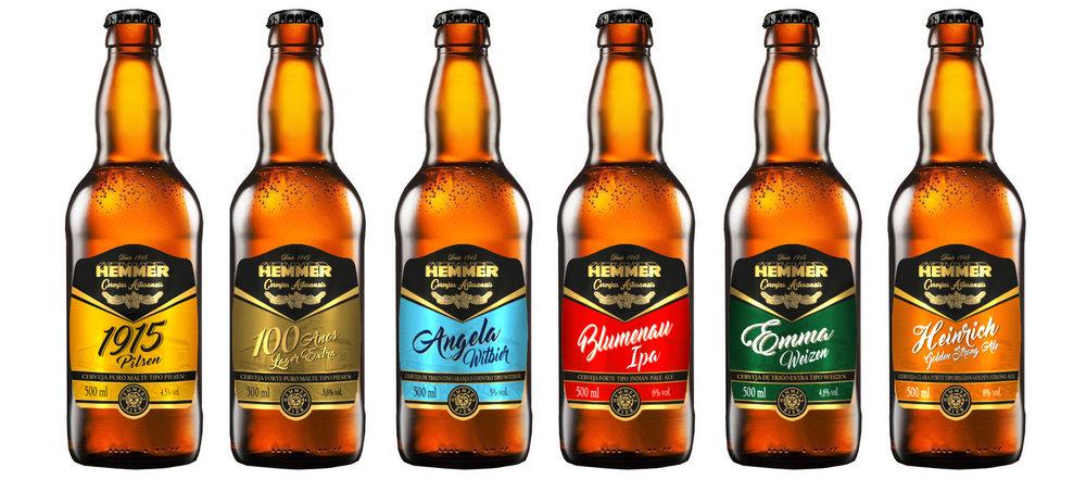 A linha, produzida na Cerveja Blumenau, chega aos pontos de venda nas próximas semana (Foto: Divulgação)