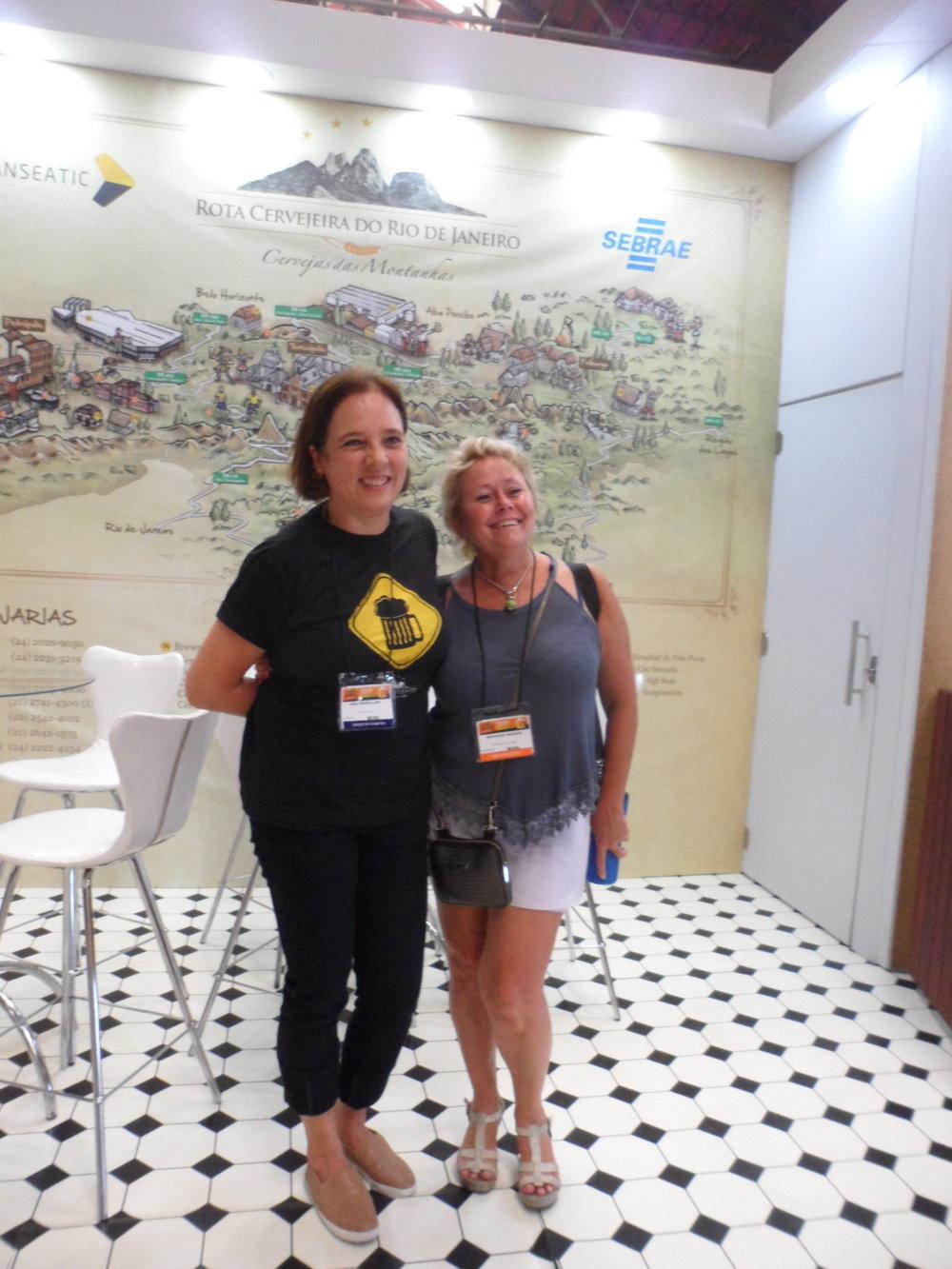 Coordenadora da Rota com a presidente do Mondial, Jeannine Marois (Foto: Divulgação)