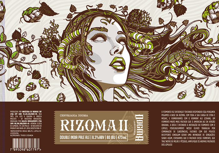 Com 8,3% de teor alcoólico e 80 IBUs (amargor), a Rizoma II tem a mesma base da Double IPA original (Foto: Divulgação)