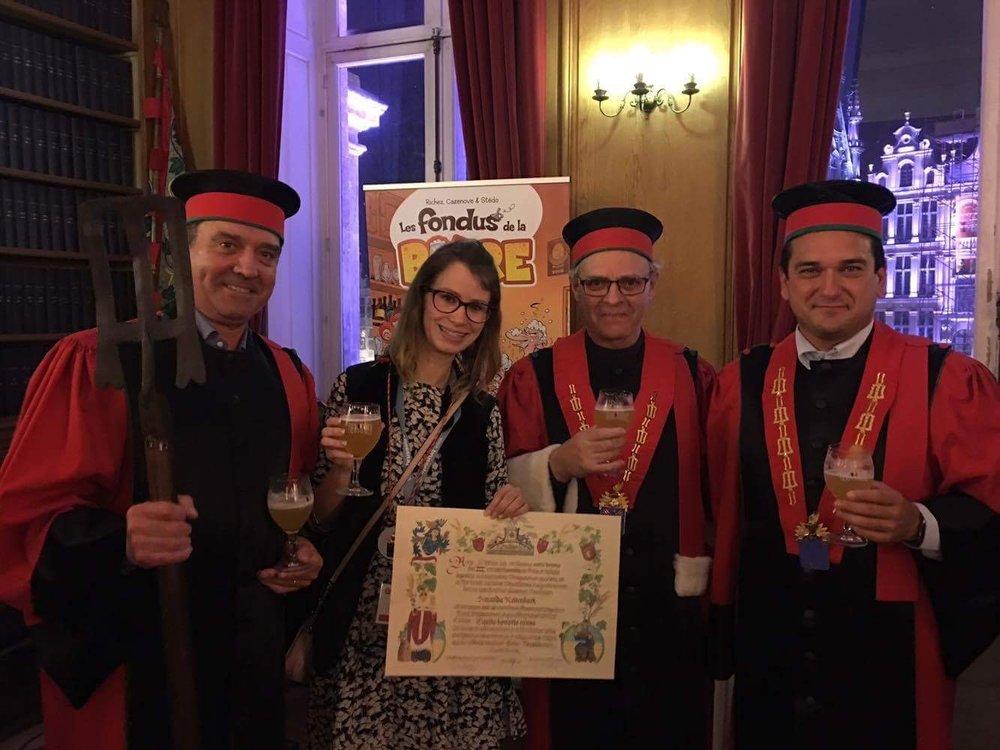 Homenageada em Bruxelas partiu da mais prestigiada ordem de cervejeiros do mundo (Foto: Divulgação)