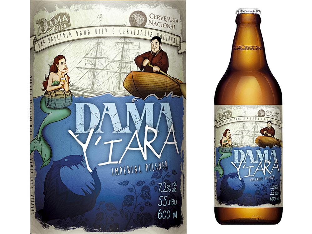 """""""A arte do rótulo é uma brincadeira, Y-Îara, é uma sereia, chamando Josef Groll, cervejeiro bávaro que fez a primeira Pilsen da história, para uma armadilha"""", conta o sommelier da cervejaria de Piracicaba (Foto: Divulgação)"""