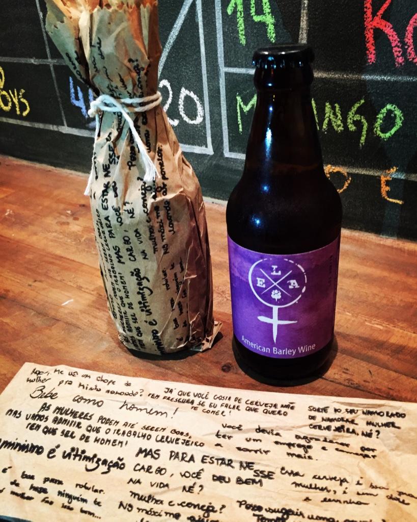 Cerveja, com embalagem especial recheada de mensagens alusivas à causa, é uma American Barley Wine (Foto: Altair Nobre/Beer Art)