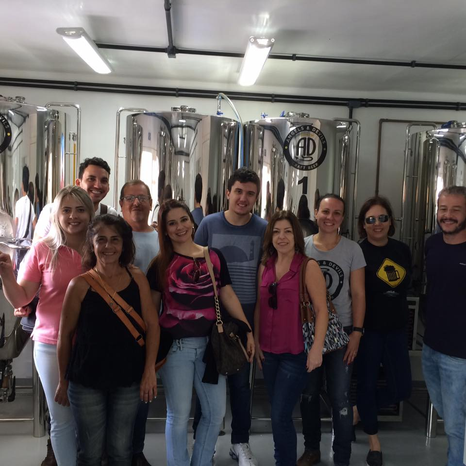 Os participantes do tour cervejeiro do último fim de semana de novembro (Foto: Divulgação)