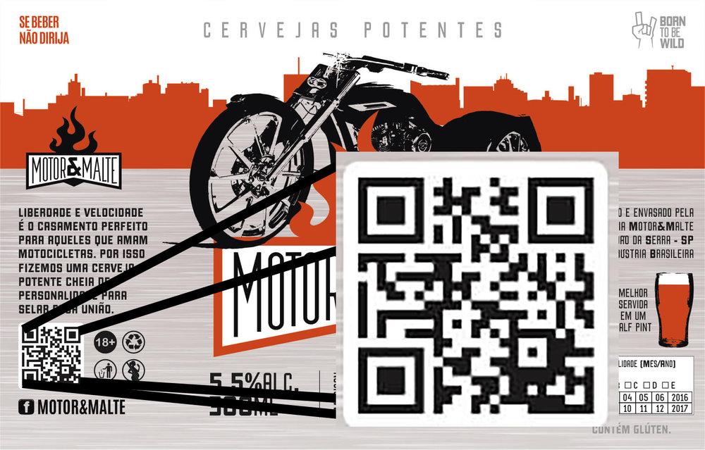 Em destaque na imagem, o qr code que oferece conteúdo especial digital sobre a cerveja (Foto: rótulo desenvolvido pela Agência Alvo)