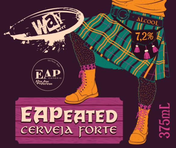 O nome vem do fato de que a cerveja foi desenvolvida 100% com malte turfado (Peated)