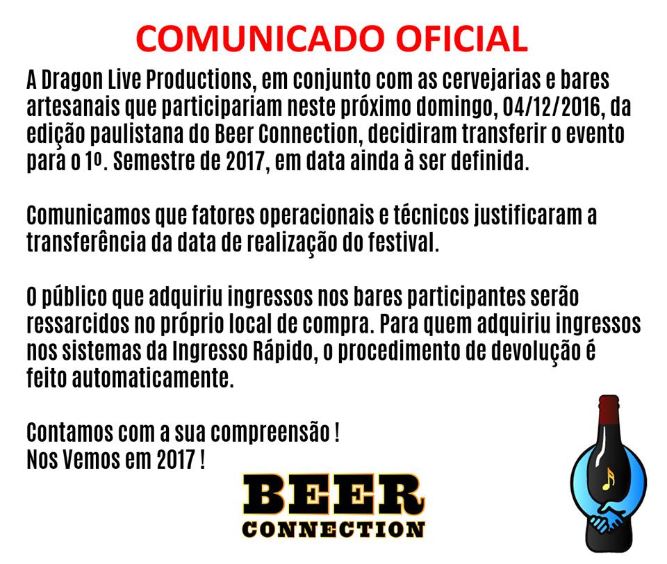 Nota divulgada pela organização na Fanpage do evento (Foto: Divulgação)