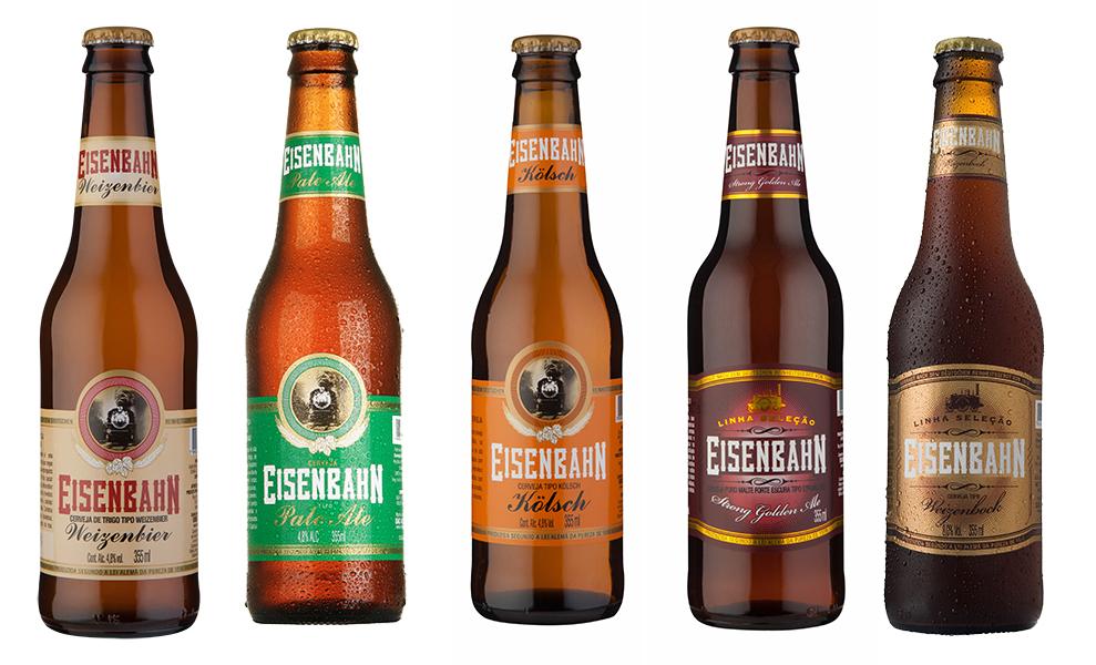 A seleção agora conta com Eisenbahn Weizenbier, Eisenbahn Pale Ale, Eisenbahn Kolsch, Eisenbahn Strong Golden Ale e Eisenbahn Weizenbock