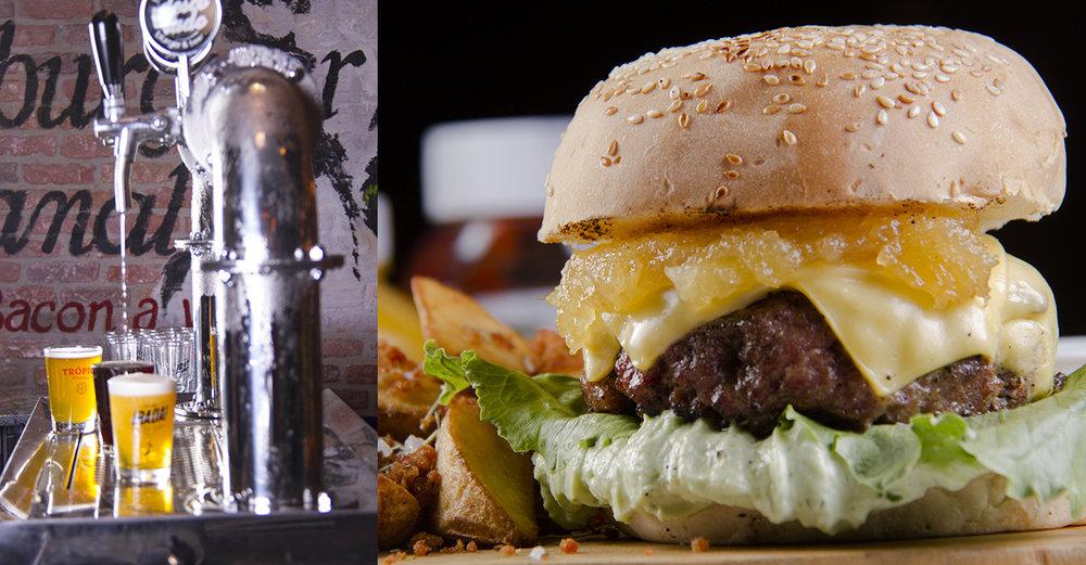 Para comemorar um ano de existência, os sócios Thiago Oliveira e Marcelo Lacerda brindam não só com os burgers mas com cerveja e chopes artesanais no novo endereço (Foto: Divulgação)