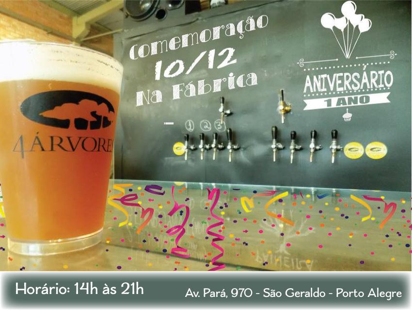 Cervejaria abre as portas para a festa, no bairro São Geraldo, zona norte de Porto Alegre (Foto: Divulgação)