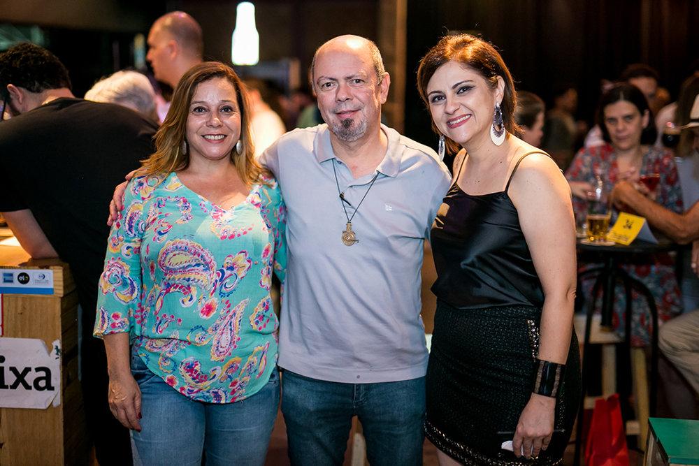 Jaqueline Oliveira, Marco Falcone e Fabiana Arreguy (Foto: Bruno Werneck/Divulgação)