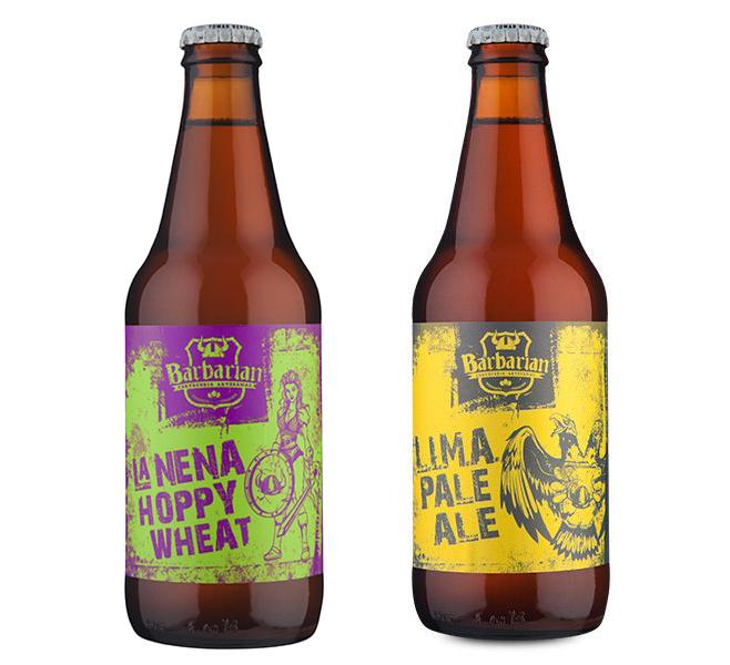 Dois rótulos da cervejaria Barbarian, uma American Wheat Ale e uma American Pale Ale, ambas premiadas, são as escolhidos do mês (Fotos: Divulgação)