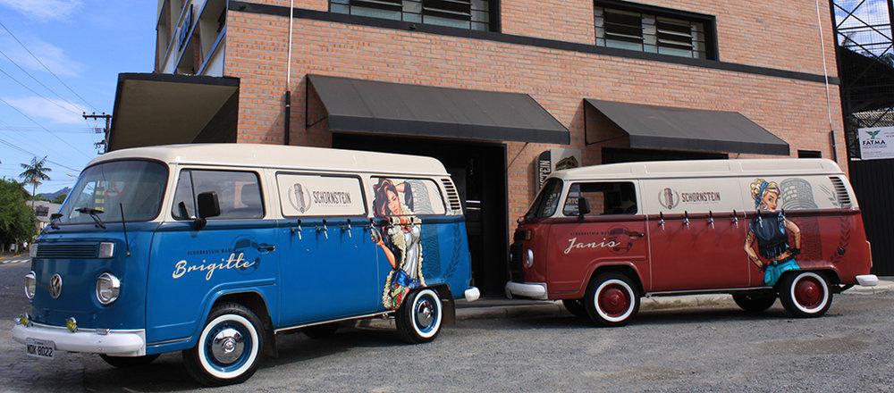 Veículos são adaptados para receber seis chopeiras cada um (Foto: Divulgação)